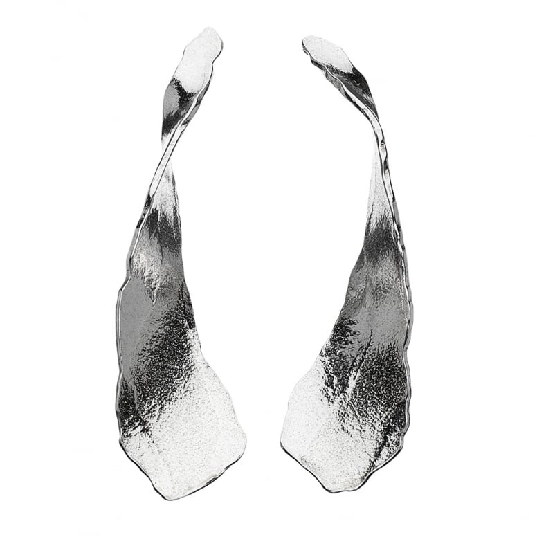 Edges Long Twist Earrings