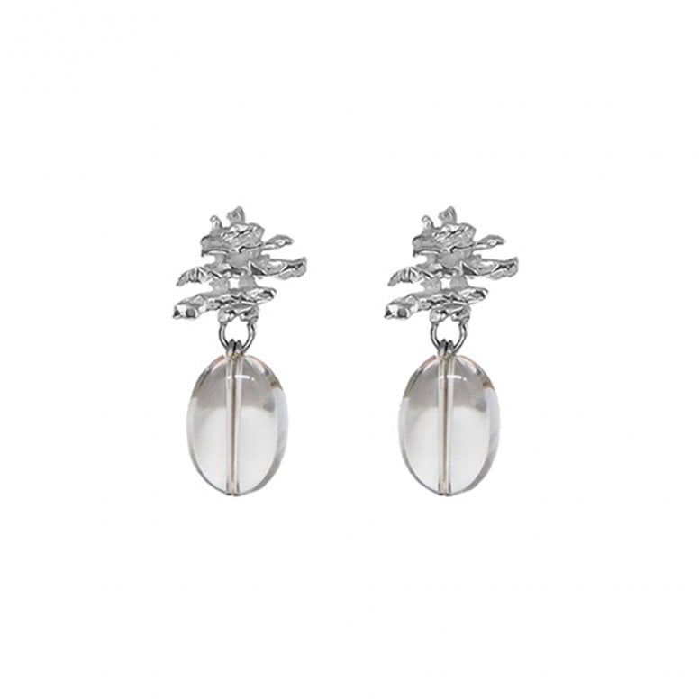 Fragments Fragment Stack earrings with Rock Crystal drop
