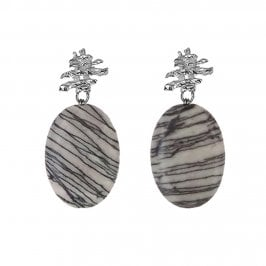 Small Fragment Stack and Picasso stone drop earring