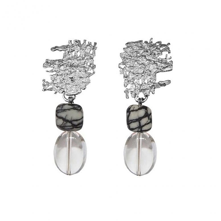 Fragments Urban Fragment earrings with Picasso stone and Rock Crystal drops