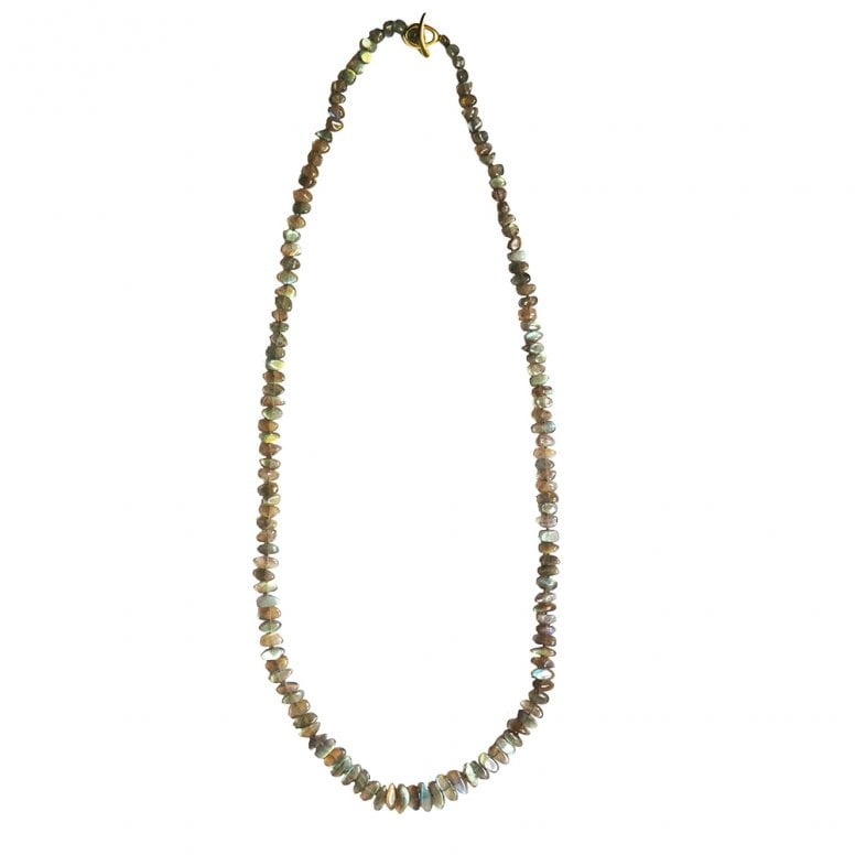 Labradorite necklace with 18ct Gold catch