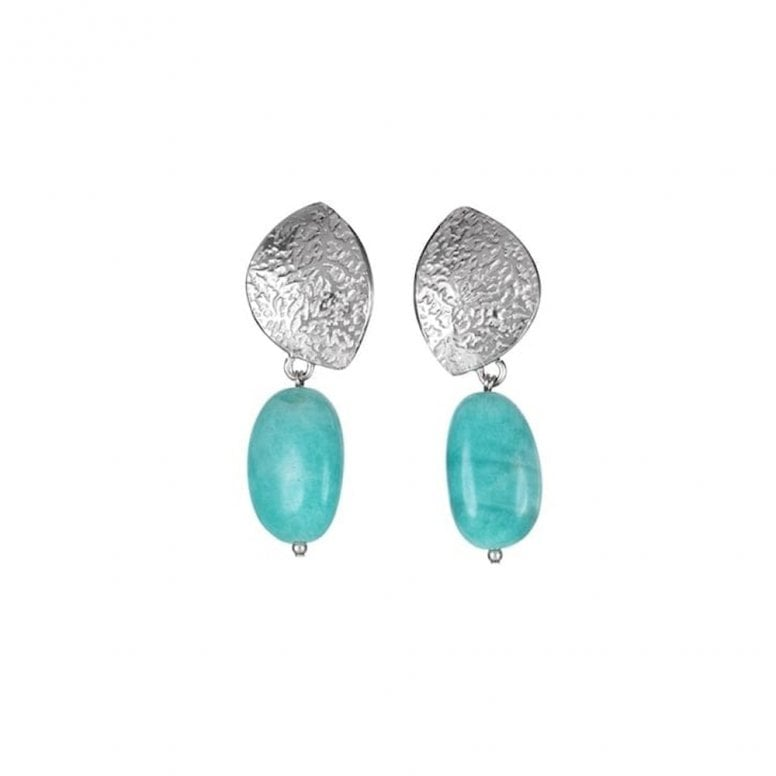 Summer Dreaming Small Olive and Amazonite Earrings