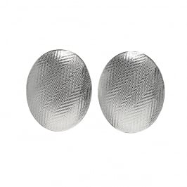 Tweed Oval Earrings
