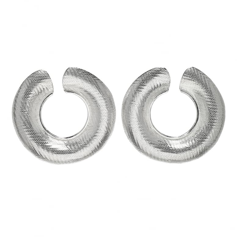 Tweed Ring Hoops