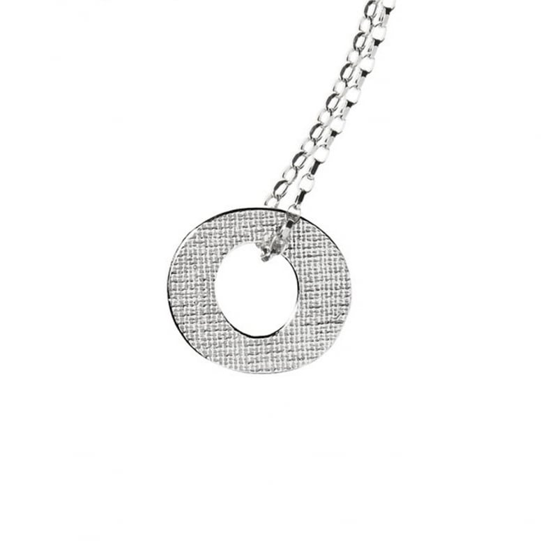 Woven Large Circle Necklace