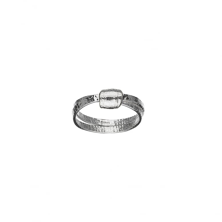 Woven Silver Knot Ring