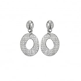 Woven Small Drop Circle Earring